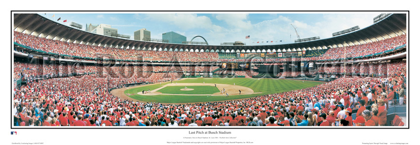"""Final Opening Game"" St. Louis Card - 13.5"" x 39"" Standard Frame"