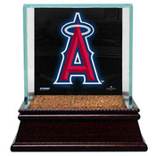Los Angeles Angels Single Baseball Case w/Game Used Infield Dirt