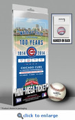 Wrigley Field 100th Anniversary Game Mini-Mega Ticket