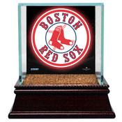 Boston Red Sox Single Baseball Case w/Game Used Infield Dirt