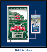 Wrigley Field 100th Anniversary Screen Print Ticket Frame