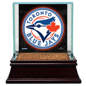 Toronto Blue Jays Single Baseball Case w/Game Used Infield Dirt