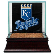 Kansas City Royals Single Baseball Case w/Game Used Infield Dirt