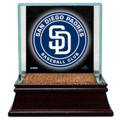 San Diego Padres Single Baseball Case w/Game Used Infield Dirt