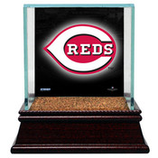 Cincinnati Reds Single Baseball Case w/Game Used Infield Dirt