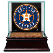 Houston Astros Single Baseball Case w/Game Used Infield Dirt