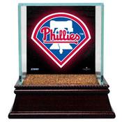 Philadelphia Phillies Baseball Case w/Game Used Infield Dirt