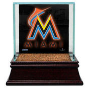 Miami Marlins Single Baseball Case w/Game Used Infield Dirt
