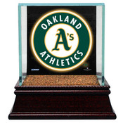 Oakland Athletics Single Baseball Case w/Game Used Infield Dirt