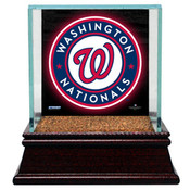Washington Nationa Single Baseball Case w/Game Used Infield Dirt