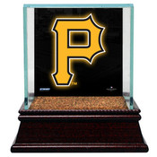 Pittsburgh Pirates Single Baseball Case w/Game Used Infield Dirt