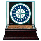 Seattle Mariners Single Baseball Case w/Game Used Infield Dirt