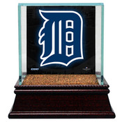Detroit Tigers Single Baseball Case w/Game Used Infield Dirt