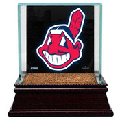 Cleveland Indians Single Baseball Case w/Game Used Infield Dirt