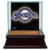 Milwaukee Brewers Single Baseball Case w/Game Used Infield Dirt
