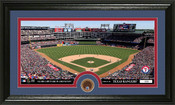 Texas Rangers Infield Dirt Panoramic Photo Mint