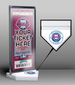 Philadelphia Phillies My First Game Ticket Display Stand