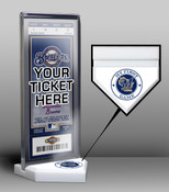 Milwaukee Brewers My First Game Ticket Display Stand