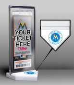 Miami Marlins My First Game Ticket Display Stand
