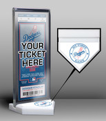 Los Angeles Dodgers My First Game Ticket Display Stand