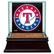 Texas Rangers Single Baseball Case w/Game Used Infield Dirt
