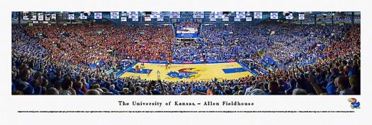 Kansas Jayhawks at Allen Fieldhouse Panorama Poster