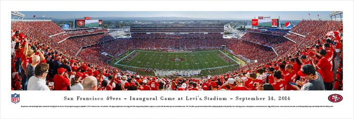 """Inaugural Game"" San Francisco 49ers at Levi's Stadium Poster Panorama"