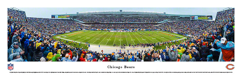 Chicago Bears at Soldier Field Panoramic Poster-Click to Buy!