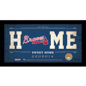 Atlanta Braves Home Sweet Home Sign w/Game Used Dirt
