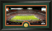 "Miami Hurricanes ""Sun Life Stadium"" Panoramic Photo Mint"