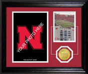Nebraska Cornhuskers Memorial Stadium 24KT Gold Coin Photomint