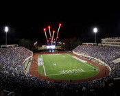 "Duke Blue Devils ""Fireworks"" at Wallace Wade Stadium Poster"