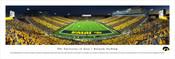 """Striping"" Iowa Hawkeyes at Kinnick Stadium Panorama Poster"