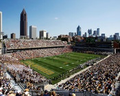 "Georgia Tech Yellow Jackets ""Panoramic"" at Bobby Dodd Stadium Poster"