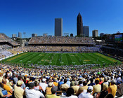 "Georgia Tech Yellow Jackets ""50 Yard Line"" at Bobby Dodd Stadium Poster"