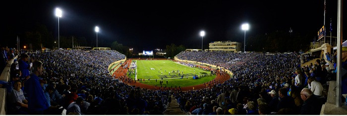 Duke Blue Devils at Wallace Wade Stadium Panorama