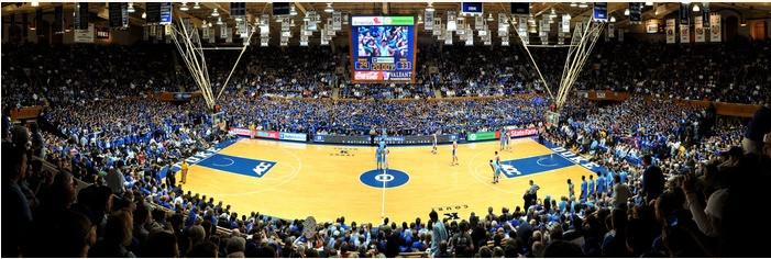 Duke Blue Devils at Cameron Indoor Stadium Panorama