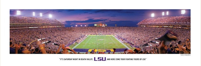 LSU Tigers At Tiger Stadium Panorama Poster