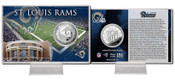 St. Louis Rams Silver Coin Card