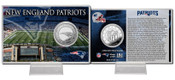 New England Patriots Silver Coin Card