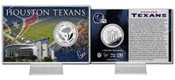 Houston Texans Silver Coin Card