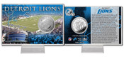 Detroit Lions Silver Coin Card