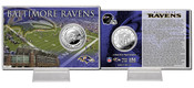 Baltimore Ravens Silver Coin Card