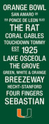 Miami Hurricanes/Orange Bowl College Town Wall Art wtih Logo