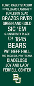 Baylor Bears/Floyd Casey Stadium College Town Wall Art wtih Logo