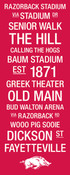 Arkansas Razorbacks/Razorback Stadium College Town Wall Art wtih