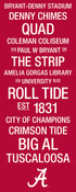 Alabama Crimson Tide/Bryant Denny Stadium College Town Wall Art