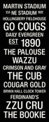 Washington State Cougars/Martin Stadium College Town Wall Art
