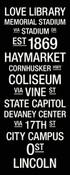 Nebraska Cornhuskers/Memorial Stadium College Town Wall Art