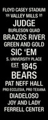 Baylor Bears/Floyd Casey Stadium College Town Wall Art
